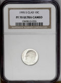 Proof Roosevelt Dimes: , 1995-S 10C Clad PR70 Deep Cameo NGC. NGC Census: (38/0). PCGSPopulation (41/0). Numismedia Wsl. Price: $172. (#95279)...