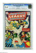 Silver Age (1956-1969):Superhero, Justice League of America #21 (DC, 1963) CGC NM 9.4 Off-white pages. No copy of this issue has been graded higher by CGC to ...