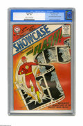 Silver Age (1956-1969):Superhero, Showcase #4 The Flash - Mohawk Valley pedigree (DC, 1956) CGC VF+8.5 Cream to off-white pages. This is the comic that revit...