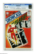 Silver Age (1956-1969):Superhero, Showcase #4 The Flash (DC, 1956) CGC VF 8.0 White pages. This isn't just the first Silver Age Flash comic, it's the first Si...