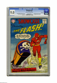 Showcase #13 The Flash - Bethlehem pedigree (DC, 1958) CGC VF/NM 9.0 Off-white to white pages. This issue features the t...