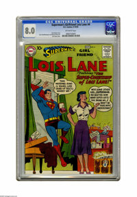 Superman's Girl Friend Lois Lane #4 (DC, 1958) CGC VF 8.0 Off-white pages. Curt Swan cover. Wayne Boring art. Overstreet...
