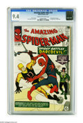 Silver Age (1956-1969):Superhero, The Amazing Spider-Man #16 (Marvel, 1964) CGC NM 9.4 Cream tooff-white pages. Daredevil made his first-ever crossover appea...