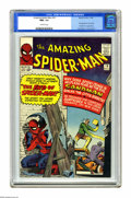 Silver Age (1956-1969):Superhero, The Amazing Spider-Man #18 (Marvel, 1964) CGC NM+ 9.6 Off-white pages. This issue sees the first appearance of Ned Leeds who...
