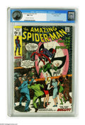 Bronze Age (1970-1979):Superhero, The Amazing Spider-Man #91 Pacific Coast pedigree (Marvel, 1970)CGC NM+ 9.6 Off-white to white pages. Here's a copy that's ...