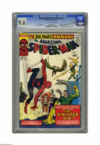 The Amazing Spider-Man Annual #1 Pacific Coast pedigree (Marvel, 1964) CGC NM+ 9.6 Off-white to white pages. Kids in the...