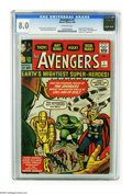 Silver Age (1956-1969):Superhero, The Avengers #1 (Marvel, 1963) CGC VF 8.0 Off-white pages. ThisMarvel milestone features the origin and first appearance of...