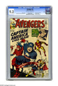 Silver Age (1956-1969):Superhero, The Avengers #4 Curator pedigree (Marvel, 1964) CGC NM- 9.2Off-white to white pages. Here's a beautiful copy of the comic t...