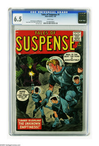 Tales of Suspense #1 (Atlas, 1959) CGC FN+ 6.5 White pages. We don't see this first issue very often, and this copy is o...