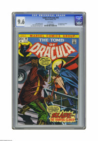 Tomb of Dracula #10 (Marvel, 1973) CGC NM+ 9.6 White pages. This is the first appearance of Blade, Vampire Slayer, and a...