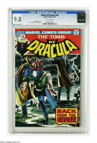 Tomb of Dracula #16 (Marvel, 1974) CGC NM/MT 9.8 Off-white pages. Gene Colan art. Overstreet 2005 NM- 9.2 value = $35. C...