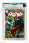 Bronze Age (1970-1979):Horror, Tomb of Dracula #17 (Marvel, 1974) CGC NM/MT 9.8 White pages. Anearly Blade appearance sees the Vampire-Slayer bitten by Dr...