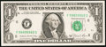 Error Notes:Blank Reverse (<100%), Fr. 1912-F $1 1981A Federal Reserve Note. Very Choice CrispUncirculated.. ...