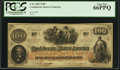 "Confederate Notes:1862 Issues, Manuscript Endorsement ""R(ichard) M. B(ooker)"" $100 1862 PF-23 Cr.UNL.. ..."
