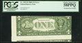 Error Notes:Skewed Reverse Printing, Fr. 1915-B $1 1988A Federal Reserve Note. PCGS Choice About New58PPQ.. ...