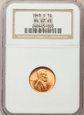 Lincoln Cents: , 1948-S 1C MS67 Red NGC. NGC Census: (551/0). PCGS Population: (251/0). Mintage 81,735,000. ...