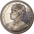 Coins of Hawaii , 1891 $1 Queen Lili'uokalani Pattern Silver Dollar PR61 Cameo PCGS. CAC. M. 2MH-1, Bruce X-M1....