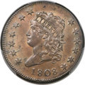Large Cents, 1808 1C S-278, B-2, R.3, MS64 Brown PCGS. CAC....