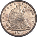 Seated Half Dollars, 1871-CC 50C Repunched Date, WB-102, Die Pair 3, R.6, MS62 PCGS. CAC....