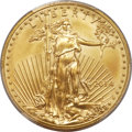 Errors, 2014 $50 One-Ounce Gold Eagle -- Struck On a .9999 Fine One-OunceAmerican Buffalo Planchet -- MS69 PCGS....