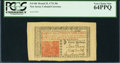 Colonial Notes:New Jersey, New Jersey March 25, 1776 30s PCGS Very Choice New 64PPQ.. ...