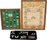 Museum Display Group of 3 (1876-1964).... (Total: 3 Items)