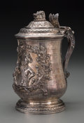 Silver Holloware, British:Holloware, A Fine Joseph Craddock & William Kerr Reid George III FiguralSilver Tankard, London, England, circa 1821. Marks: (lion pass...