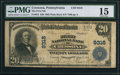 National Bank Notes:Pennsylvania, Cressona, PA - $20 1902 Plain Back Fr. 652 The First NB Ch. # 9318 PMG Choice Fine 15.. ...