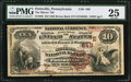 National Bank Notes:Pennsylvania, Pottsville, PA - $10 1882 Brown Back Fr. 480 The Miners' NB Ch. #(E)649. ...