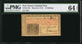 Colonial Notes:New Jersey, New Jersey March 25, 1776 15s PMG Choice Uncirculated 64 EPQ.. ...