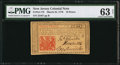 Colonial Notes:New Jersey, New Jersey March 25, 1776 18d PMG Choice Uncirculated 63 Net.. ...
