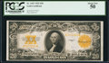 Large Size:Gold Certificates, Fr. 1187 $20 1922 Gold Certificate PCGS About New 50.. ...