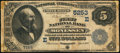 National Bank Notes:Pennsylvania, Monessen, PA - $5 1882 Value Back Fr. 574 The First NB Ch. #(E)5253. ...