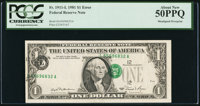 Fr. 1911-L $1 1981 Federal Reserve Note. PCGS About New 50PPQ