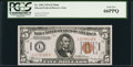 Small Size:World War II Emergency Notes, Fr. 2301 $5 1934 Hawaii Federal Reserve Note. PCGS Gem New 66PPQ.. ...