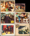 """Movie Posters:Comedy, City Lights & Others Lot (United Artists, R-1950). Lobby Cards (5) (11"""" X 14"""") & Partial Lobby Card (7.75"""" X 9.75""""). Comedy.... (Total: 6 Items)"""