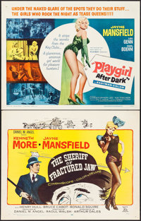 """The Sheriff of Fractured Jaw & Other Lot (20th Century Fox, 1959). Half Sheets (2) (22"""" X 28""""). Comedy..."""