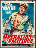 "Movie Posters:War, Operation Pacific (Warner Brothers, 1953). Trimmed Belgian (14"" X19""). War.. ..."