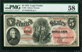 Fr. 68 $5 1875 Legal Tender PMG Choice About Unc 58