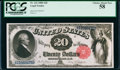 Large Size:Legal Tender Notes, Fr. 142 $20 1880 Legal Tender PCGS Choice About New 58.. ...
