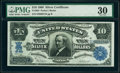 Large Size:Silver Certificates, Fr. 304 $10 1908 Silver Certificate PMG Very Fine 30.. ...