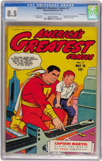 America's Greatest Comics #7 - Crowley Copy (Fawcett Publications, 1943) CGC VF+ 8.5 Cream to off-white pages