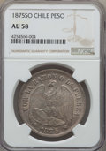 Chile, Chile: Republic Peso 1875-So AU58 NGC,...