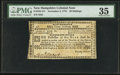 Colonial Notes:New Hampshire, New Hampshire November 3, 1775 30s PMG Choice Very Fine 35.. ...