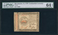 Colonial Notes:Continental Congress Issues, Continental Currency January 14, 1779 $35 PMG Choice Uncirculated64 EPQ.. ...
