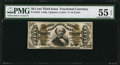 Fractional Currency:Third Issue, Fr. 1338 50¢ Third Issue Spinner PMG About Uncirculated 55 EPQ.. ...