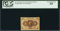 Fractional Currency:First Issue, Fr. 1231 5¢ First Issue PCGS Very Choice New 64.. ...
