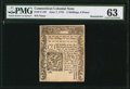 Colonial Notes:Connecticut, Connecticut June 7, 1776 2s 6d PMG Choice Uncirculated 63.. ...