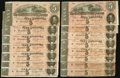 Confederate Notes:1864 Issues, T69 $5 1864 PF-10 Cr. 564 Fifteen Examples.. ... (Total: 15 notes)