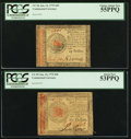 Colonial Notes:Continental Congress Issues, Continental Currency January 14, 1779 $45 (CC-96) and $60 (CC-99)PCGS Choice About New 55PPQ and 53PPQ.. ... (Total: 2 notes)